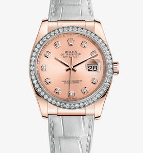 Replica Rolex Datejust 36 mm Watch: 18 ct Everose gold – M116185-0008