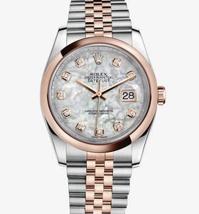 Replica Rolex Datejust 36 mm Watch: Everose Rolesor - combination of 904L steel and 18 ct Everose gold – M116201-0100