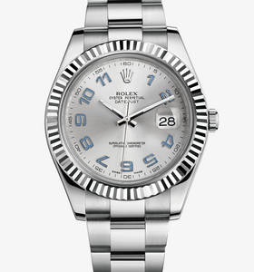 Replica Rolex Datejust II Watch: White Rolesor - combination of 904L steel and 18 ct white gold – M116334-0001
