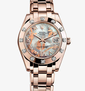 Replica Rolex Datejust Special Edition Watch: 18 ct Everose gold – M81315-0011