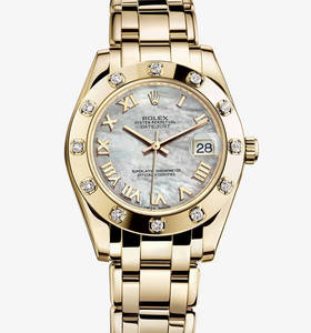 Replica Rolex Datejust Special Edition Watch: 18 ct yellow gold – M81318-0005