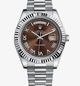 Replica Rolex Day-Date II Watch: 18 ct white gold – M218239-0040