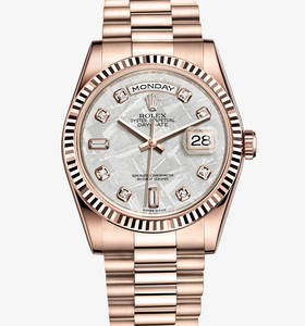 Replica Rolex Day-Date Watch: 18 ct Everose gold – M118235F-0026