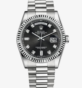 Replica Rolex Day-Date Watch: 18 ct white gold – M118239-0089