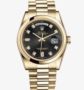 Replica Rolex Day-Date Watch: 18 ct yellow gold – M118208-0118