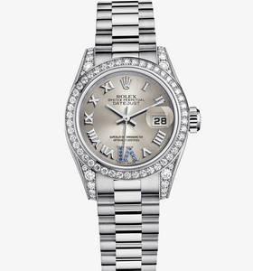 Replica Rolex Lady-Datejust Watch: 18 ct white gold – M179159-0094