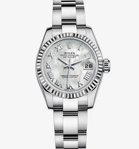 Replica Rolex Lady-Datejust Watch: White Rolesor - combination of 904L steel and 18 ct white gold – M179174-0065