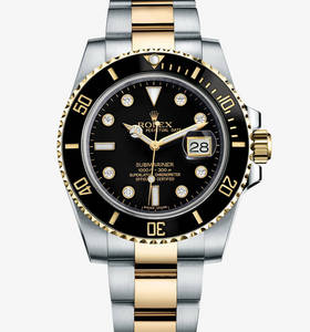 Replica Rolex Submariner Date Watch: Yellow Rolesor - combination of 904L steel and 18 ct yellow gold – M116613LN-0003